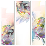 Abstract floral vertical brochures set with leafs - 208483042