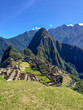 View on Machu Picchu the 15th-century Inca citadel situated on a mountain ridge 2,430 metres above sea level