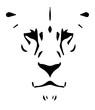 Lion Head Face #isoliert #vektor - Löwe Löwenkopf Gesicht
