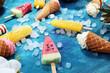 Leinwanddruck Bild - Vanilla frozen yogurt or soft ice cream in waffle cone.
