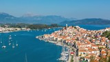 Panoramic aerial view of Poros, Greece - Timelapse at summer day - 208491897