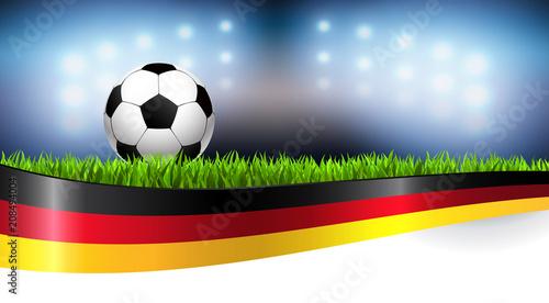 Leinwanddruck Bild Fussball Deutschland 2018