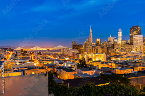 Fotobehang San Francisco San Francisco downtown skyline