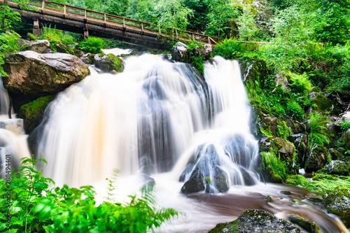 triberger wasserfälle im schwarzwald baden-württemberg - 208494401