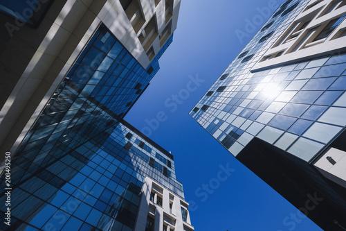 Leinwanddruck Bild Modern corporate building in Bucharest