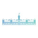 canadian parliament building icon vector illustration design - 208496875