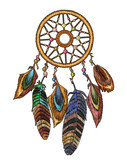 Fashionable template for design of clothes. Magic tribal feathers. Embroidery tribal dream catcher boho native american indian talisman dreamcatcher - 208498065