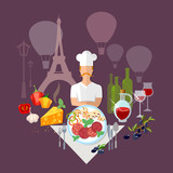 French Cuisine and culture France food french wine and cheese restaurant menu - 208498084