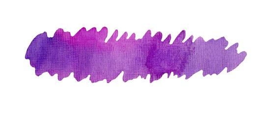 Hand painted violet art splash. © lesichkadesign