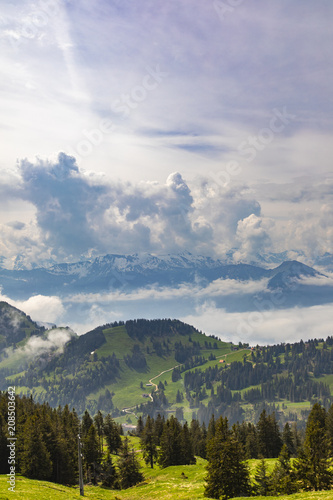 View to Swiss Alps from Rigi Kulm - 208503642