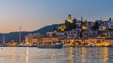 View of Poros, Greece - Timelapse of day to night transition - 208504601