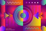 Abstract decorative vector background - 208505601