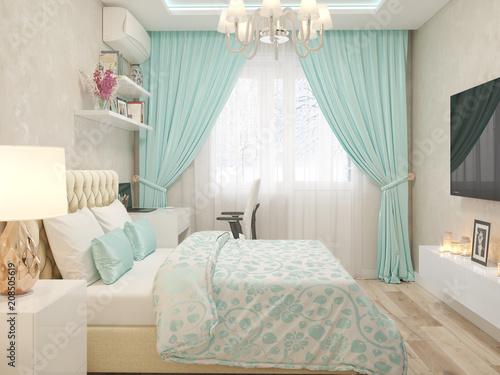 Fridge magnet Спальня в современном стиле