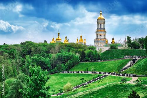 Aluminium Kiev View of Kiev Pechersk Lavra. Old architecture and landmark in Kiev, Ukraine