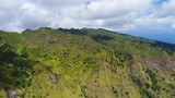 Aerial view of inland of Nuku Hiva island - South Pacific Ocean, Marquesas Islands, landscape of French Polynesia from above, 4k - 208509470