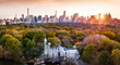 Leinwanddruck Bild - New York panorama from Central park, aerial view
