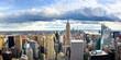 New york skyline and Manhattan panoramic view
