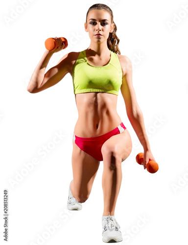 Młoda sporty dziewczyna odizolowywająca