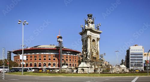 Fotobehang Barcelona Plaza de Espana (square of Spain) in Barcelona. Spain