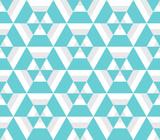 Abstract hexagon geometric seamless pattern. Mosaic background. Vector illustration. - 208537000