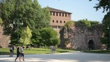 Sforza Fortress - view from the Parco Sempione in Milan - 208544887