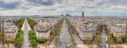 View from the Arc de Triomphe  - 208546814