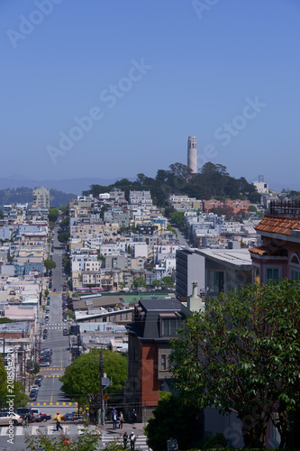 The view of coil tower and the city, san francisco - 208554220