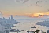Hong Kong Cityscape and a Victoria Harbour - 208555824