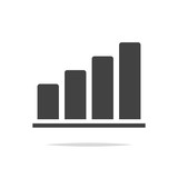 Growth chart icon vector isolated - 208564016