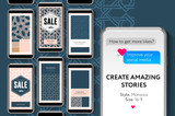 Social media story templates for brands and blogger, modern promotion web banner for social media mobile apps, vector illustration. - 208566000