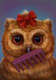 Сова парикмахер  - 208569464