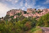 Saignon, Vaucluse, Provence, France: landscape of the ancient village on the hill