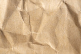 old crumpled brown paper texture and background - 208574621