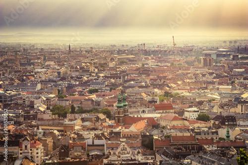 Budapest at morning sunlight