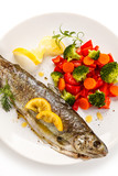 Fish dish - roasted trout with vegetables - 208580400