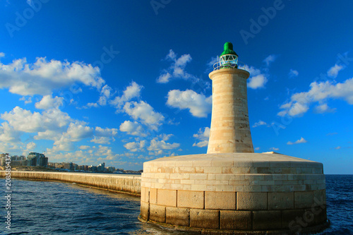 Fotobehang Vuurtoren Lighthouse im Matla