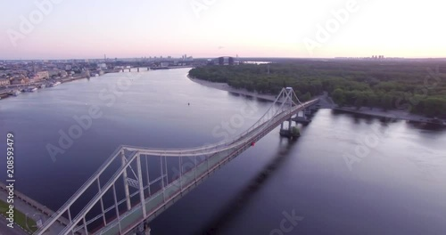 Wall mural View of the bridge from the drone
