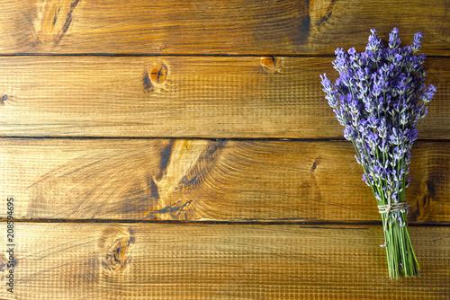 Fotobehang Lavendel Bouquet of fresh lavender