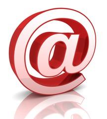 e mail sign 3d illustration isolated © frender