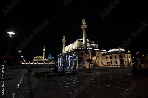 Mausoleum of Mevlana in Karaman - Konya / Turkey. night photos