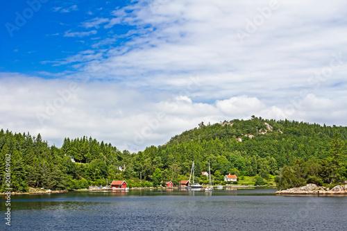 Foto Murales Norwegian homes on island