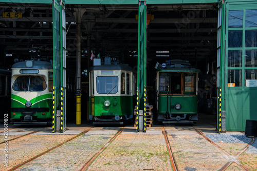 Fototapeta Straßenbahn Remise