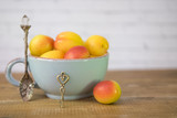 Cup with apricots