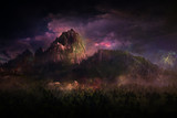 Geheimnisvoll Berglandschaft