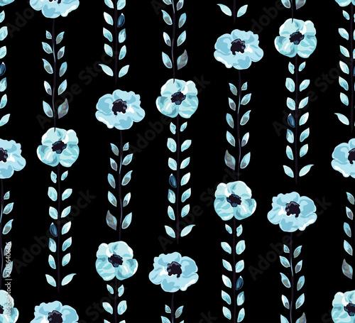 floral seamless pattern - 208640686