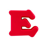 letter E uppercase alphabet plastic on white background with Clipping path - 208642861
