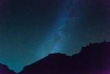 Dark blue sky with beautiful stars - 208643643