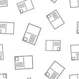 Postcard envelope icon seamless pattern background. Business concept vector illustration. Postal postcard symbol pattern. - 208650401