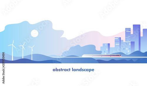 Abstract urban landscape. Vector illustration.