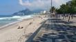 Quadro The iconic pavement pattern of Ipanema beach, Rio de Janeiro.